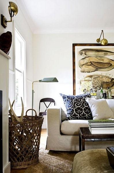 decor living modern aplice perete din cupru si alama