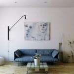 decor living modern minimalist cu accente industriale