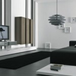 decor minimalist sufragerie moderna in alb si negru