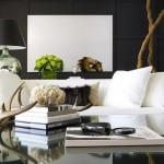 decor modern living alb negru minimalist