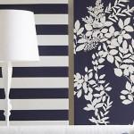 decor perete alb bleumarin living open space apartament modern