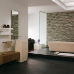 decor piatra naturala baie minimalista