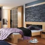 decor piatra naturala interior dormitor modern