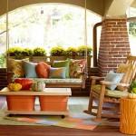 decor simplu de toamna pentru balcon sau terasa