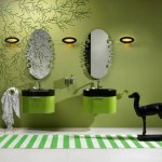 decor verde maslina amenajare baie moderna minimalista