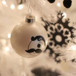 decoratiuni alb negru craciun