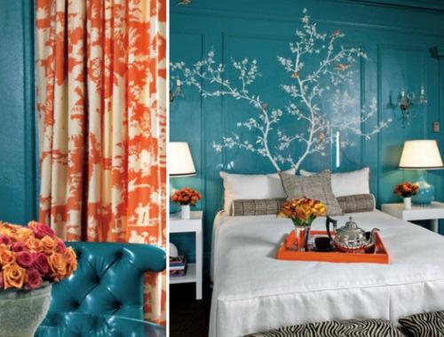 decoratiuni dormitor turcoaz