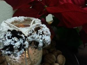 decoratiuni pentru masa de craciun din borcane