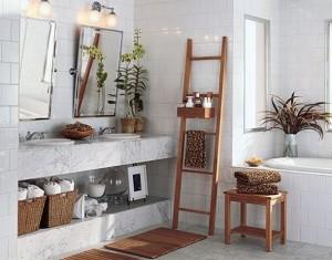 depozitare prosoape baie in cosuri de rachita