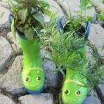 design cizme flori