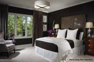 design dormitor ciocolatiu