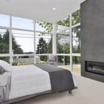 design dormitor modern cu semineu