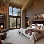 design dormitor modern decor rustic piatra naturala