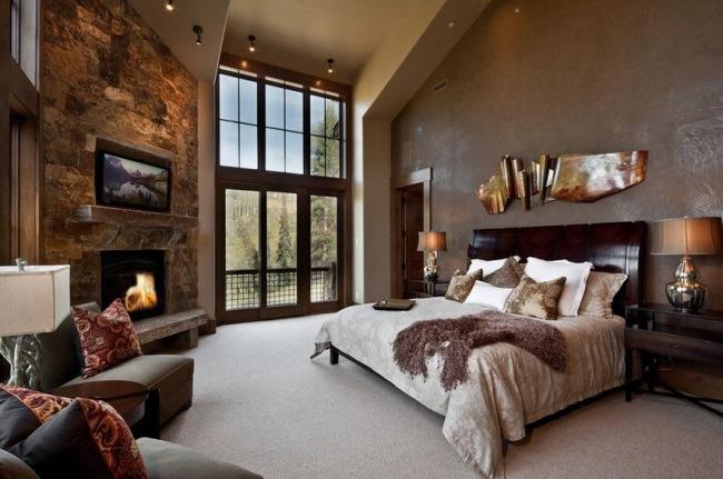 Amenajari dormitoare rustice