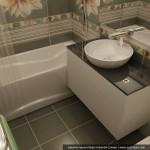design si configurare baie mica de doar 3 metri patrati