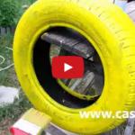 VIDEO: Cum faci jardiniere din cauciucuri vechi – DIY