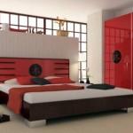 dormitor alb rosu japonez