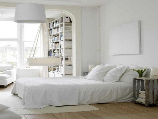 dormitor alb stil scandinav