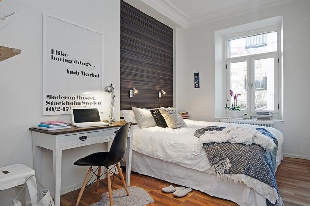 dormitor amenajat stil scandinav