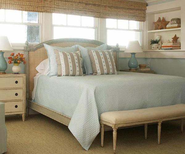 dormitor clastic accente vintage decor inspirat de mare