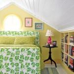 dormitor cochet amenajat in mansarda