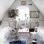 dormitor copii mansarda stil shabby chic