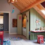 dormitor copil mansarda intr-un fost grajd transformat in casa