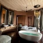 dormitor cu baie de lux cabana privata africa de sud