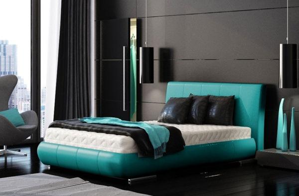 dormitor culori turcoaz