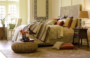 dormitor decorat