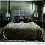 dormitor elegant modern cu accente decorative rustice