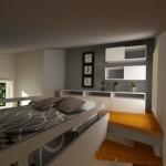 dormitor etaj casa la pachet nomad