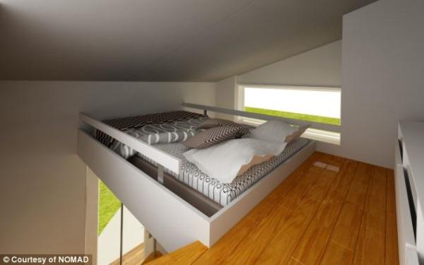 dormitor etaj mansardat casa modulara prefabricata