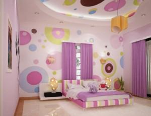 dormitor fetite violet