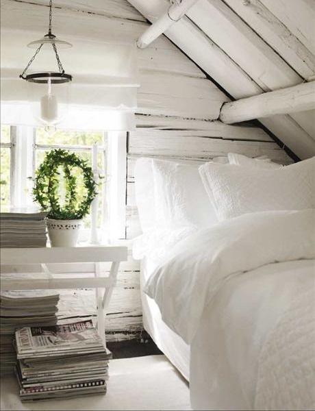 dormitor mansarda decor shabby chic