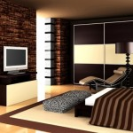 dormitor masculin decor wenge si piatra naturala