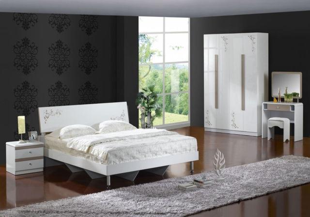dormitor modern alb negru
