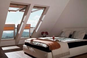 dormitor modern mansarda