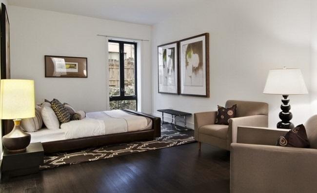 dormitor modern pardoseala parchet wenge