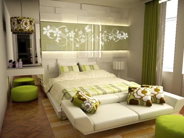 dormitor modern verde oliv