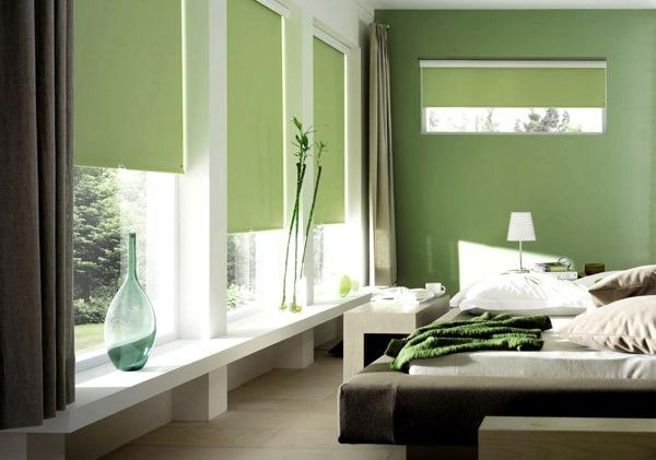 dormitor modern verde