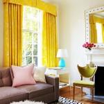 draperii galbene decor inspirat de primavara living