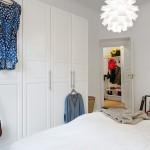 dressing alb dormitor apartament stil scandinav
