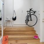 dressing incastrat hol mic alb apartament amenajat stil scandinav