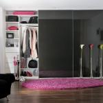 dressing modern usi gisante sticla culoare neagra dormitor