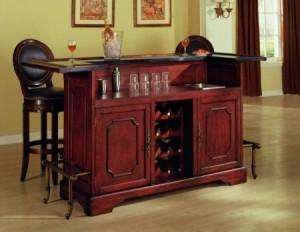 dulap bar compact lemn masiv