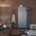 dulap metalic apartament vintage stil masculin