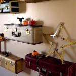 Rafturi, dulapuri sau fotolii vintage din valize si geamantane vechi – 17 IMAGINI