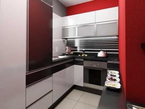 exemplu amenajare bucatarie ingusta apartament