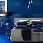 exemplu amenajare dormitor albastru inchis si gri